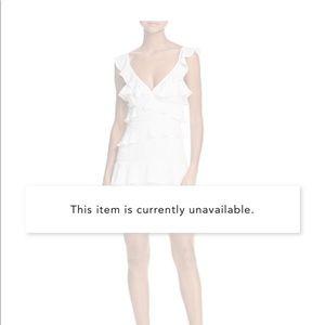 Bardot lace inset ruffled dress